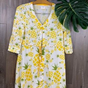 NWOT CowCow Pineapple Print Dress